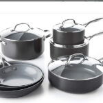GreenPan Valencia Pro Hard Anodized Induction Safe Healthy Ceramic Nonstick, Cookware Pots and Pans Set,