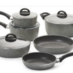Ballarini Parma Forged Aluminum Nonstick Cookware Set, 10-Piece, Granite